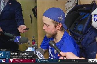 Victor Hedman: We lost our discipline a little in the 3rd