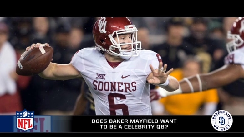 Is Baker Mayfield trying to become a celebrity QB?