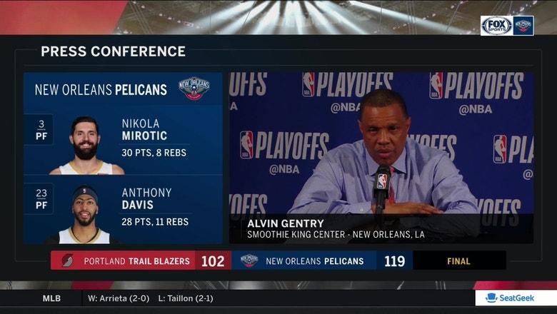 Alvin Gentry on bottling up Damian Lillard | Trail Blazers at Pelicans
