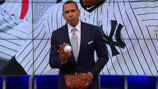 Alex Rodriguez demonstrates how Luis Severino has improved his pitching mechanics