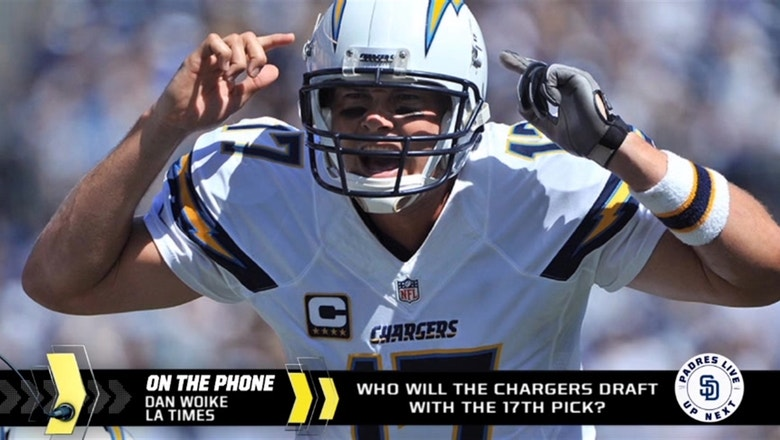 Who are the Chargers going to take at pick No. 17 in the NFL Draft?