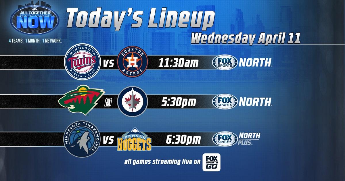 3 big games on FOX Sports North on Wednesday #AllTogetherNow