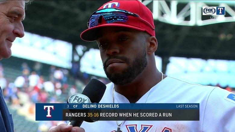 Delino DeShields back in Arlington, Rangers beat Mariners 7-4