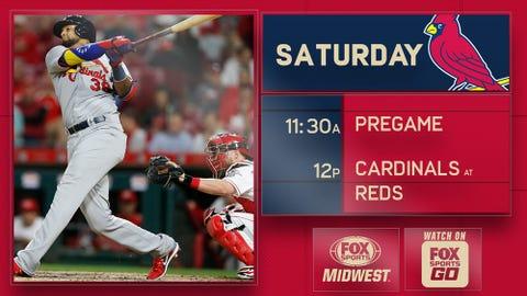 Martinez, Cardinals pound Reds, 13-4
