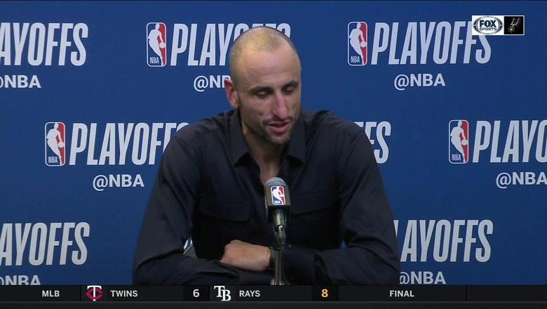 Manu Ginobili Press Conference - Game 4 | Warriors at Spurs