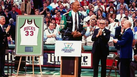 April 4, 1993: Kareem has jersey retired