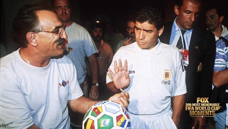 59th Most Memorable FIFA World Cup™ Moment: Maradona's inglorious goodbye