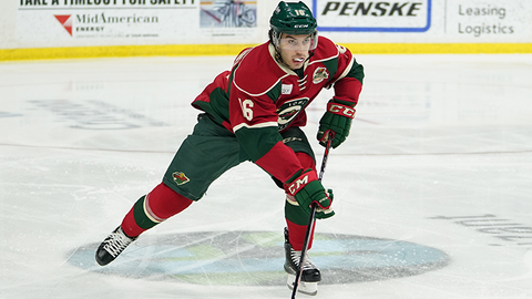 Louie Belpedio, Wild defenseman (↑ UP)