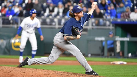 Brewers' Hader makes Major League Baseball history with 8 strikeouts in under 3 innings