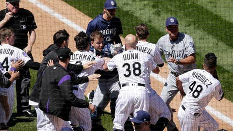Nolan Arenado, Rockies get in bench-clearing brawl with Padres