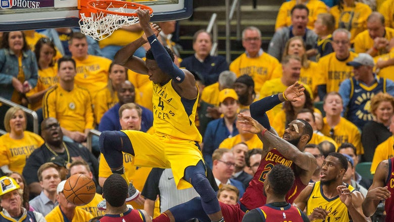 HIGHLIGHTS: Oladipo collects triple-double in Pacers' win over Cavs