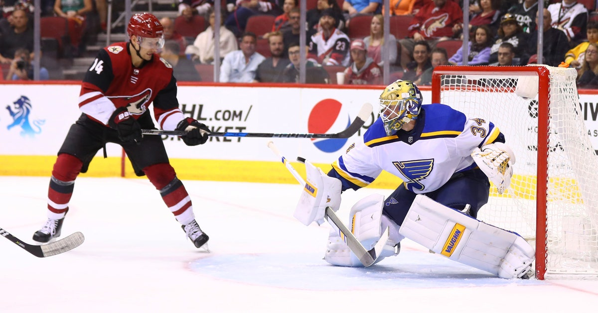 Allen gets quick hook in Blues  6-0 loss to Coyotes  01e67a5c5