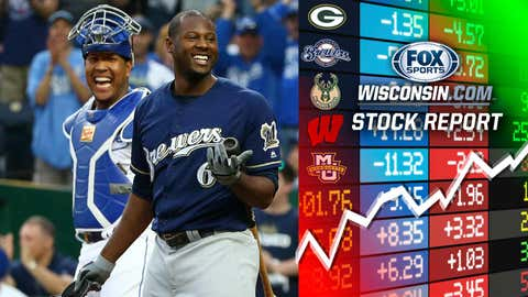 Lorenzo Cain, Brewers outfielder (↑ UP)