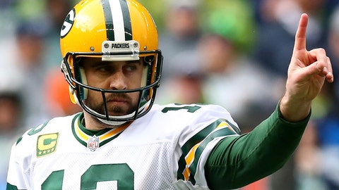 Aaron Rodgers and David Bakhtiari, Packers (↑ UP)