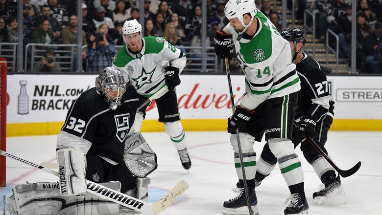 Benn nets natural hat trick to give Stars 4-2 win over Kings