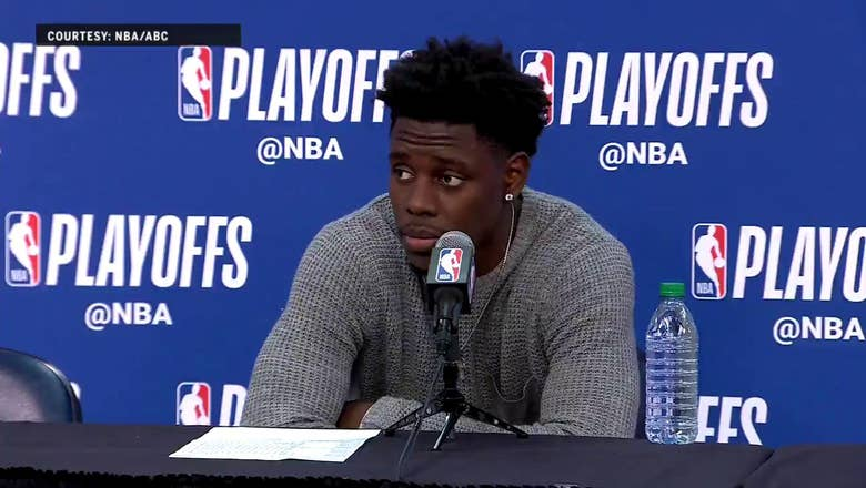 Jrue Holiday on New Orlean's poor shooting in Game 4 | Warriors at Pelicans