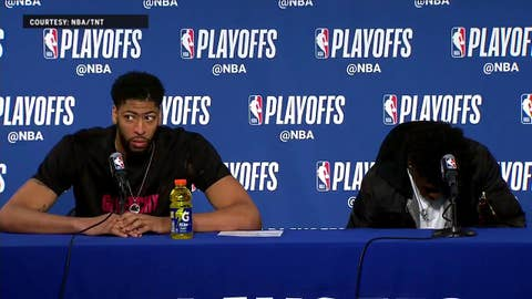 Anthony Davis talks end of the season | Warriors Eliminate Pelicans