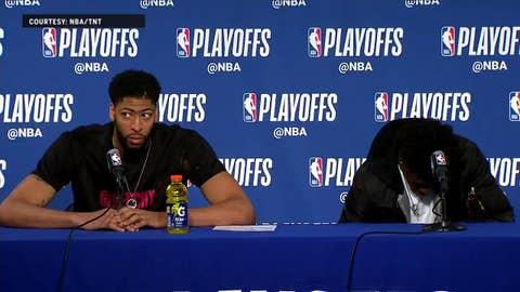 Anthony Davis talks end of the season | Warriors Eliminate Pelicans