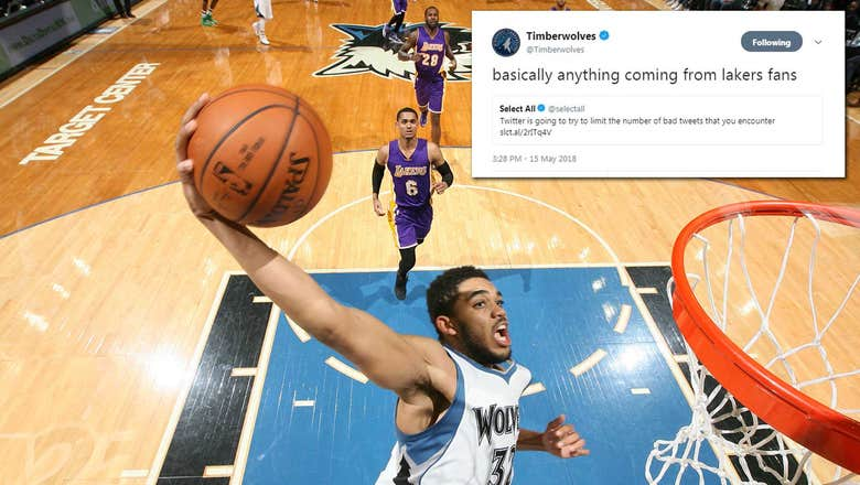 Top Tweets: Timberwolves call out Lakers fans