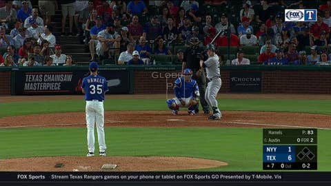 WATCH: Rougned Odor robs Tyler Austin of a base hit | Yankees at Rangers