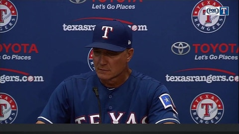 Jeff Banister on Cole Hamels in win over New York