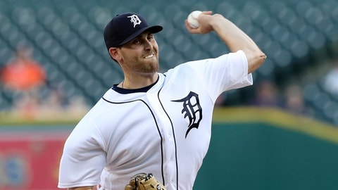 Detroit Tigers starting pitcher Matthew Boyd throws during the first inning of a baseball game against the Tampa Bay Rays, Tuesday, May 1, 2018, in Detroit. (AP Photo/Carlos Osorio)