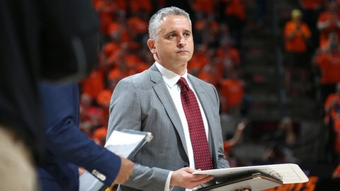 SALT LAKE CITY, UT - APRIL 21: Assistant Coach Igor Kokoskov of the Utah Jazz looks on during the game against the Oklahoma City Thunder in Game Three of Round One of the 2018 NBA Playoffs on April 21, 2018 at vivint.SmartHome Arena in Salt Lake City, Utah. (Photo by Melissa Majchrzak/NBAE via Getty Images)