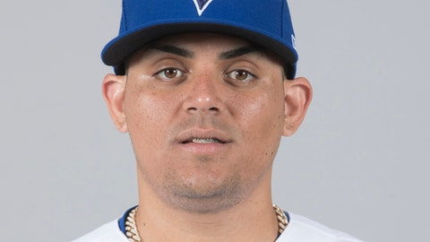 FILE - This is a 2018 file photo showing Roberto Osuna of the Toronto Blue Jays baseball team. Blue Jays closer Roberto Osuna has been charged with assault. Toronto police declined to say Tuesday, May 8, 2018, whether it was domestic assault. Const. Jenifferjit Sidhu says the charge is for one count of assault, and provided no further details. (AP Photo/John Minchillo, File)