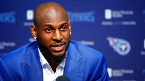 FILE - In this Friday, April 27, 2018 file photo, Alabama linebacker Rashaan Evans speaks at a news conference in Nashville, Tenn. Evans is the Tennessee Titans' top pick in the NFL football draft. The Titans have agreed to terms on a deal with their first-round draft pick LB Rashaan Evans, Tuesday, May 15, 2018. (AP Photo/Wade Payne, File)