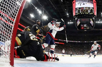 Goalies under siege in Game 1 shootout between Caps, Knights