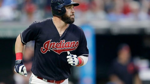 Cleveland Indians' Jason Kipnis watches his solo home run off Chicago White Sox relief pitcher Chris Beck during the eighth inning of a baseball game Tuesday, May 29, 2018, in Cleveland. (AP Photo/Tony Dejak)