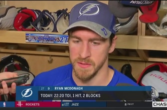 Ryan McDonagh on how experience has helped Lightning