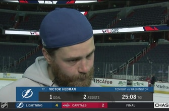 Victor Hedman liked how Lightning played away from the puck in Game 3