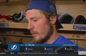 J.T. Miller on his game-winning goal, success of Point's line