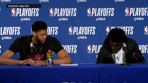 Anthony Davis, Jrue Holiday Press Conference - Game 5 | Warriors at Pelicans