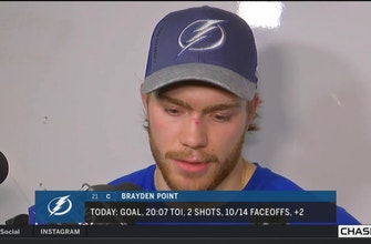 Brayden Point says depth has been important for Bolts in playoffs