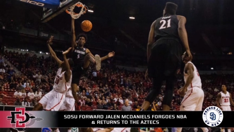 San Diego State forward Jalen McDaniels to return for sophomore year