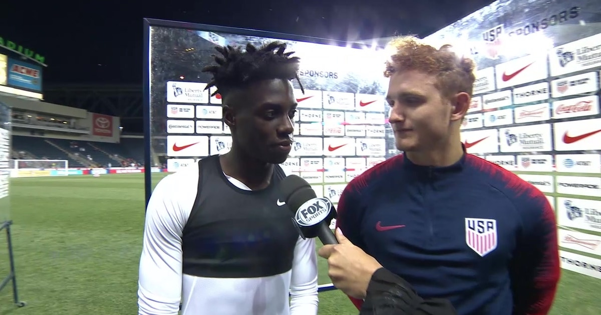 Tim Weah and Josh Sargent on their debut goals against Bolivia