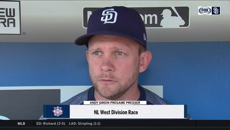Andy Green gives updates on injuries, discusses NL West race