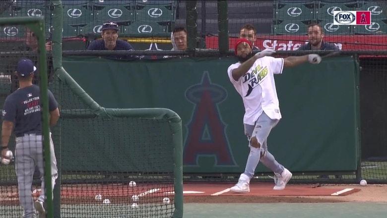 WATCH: Odell Beckham Jr. hits multiple home runs at Angels Stadium