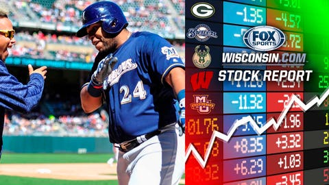 Jesus Aguilar, Brewers first baseman (⬆ UP)