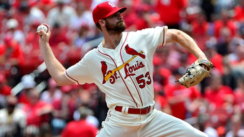 May 19, 2018; St. Louis, MO, USA; St. Louis Cardinals starting pitcher John Gant (53) pitches during the first inning against the Philadelphia Phillies at Busch Stadium. Mandatory Credit: Jeff Curry-USA TODAY Sports