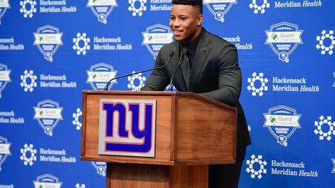 1. Saquon Barkley, RB, Giants