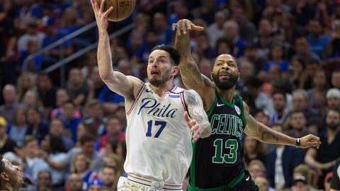 10. Philadelphia 76ers/Boston Celtics