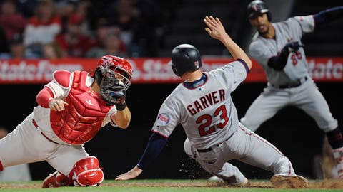 Garver's 12th inning double propels Twins to win over Angels