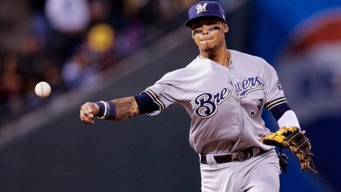 Orlando Arcia, Brewers shortstop (⬇ DOWN)