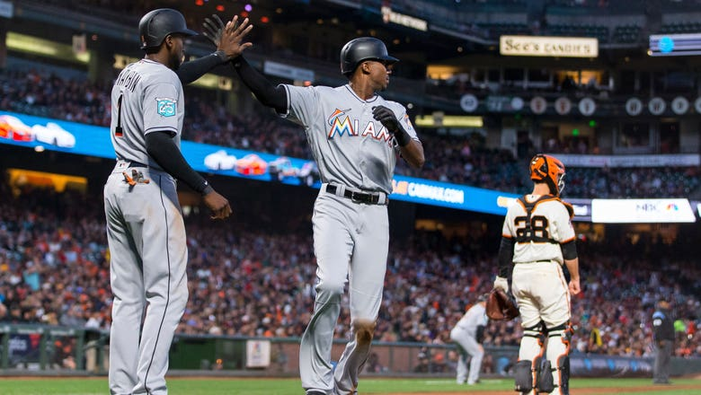 Miguel Rojas, Lewis Brinson's 9th-inning RBI fuel Marlins' comeback win over Giants