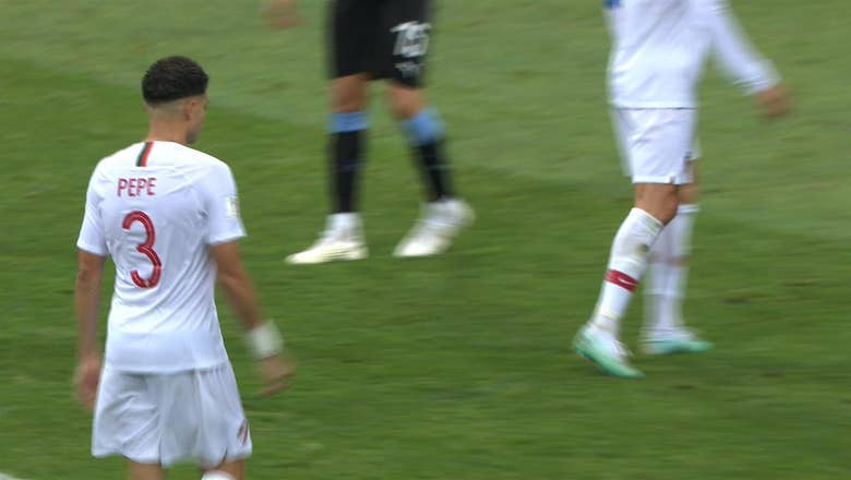 RAPHAEL GUERREIRO (Portugal) has a shot which is off target