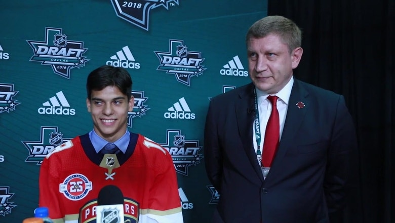 Florida Panthers' 1st round draft pick Grigori Denisenko on what kind of NHL player he'll be