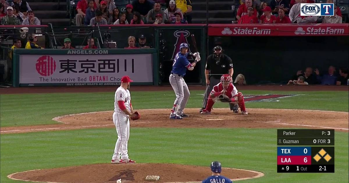 WATCH: Benches clear at end of Rangers - Angels game